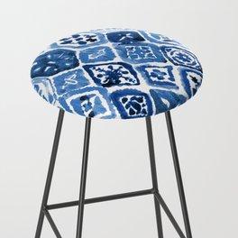 Arabesque tile art Bar Stool