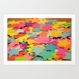 Star Confetti Art Print