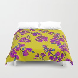 Bougainvillea casa yellow Duvet Cover