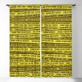 Crime scene / 3D render of endless crime scene tape Blackout Curtain