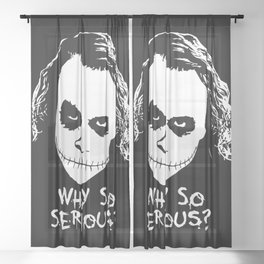 MAKE THIS OCTOBER AND HALLOWEEN A SCREAM Sheer Curtain
