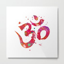 Colorful Om Symbol Metal Print