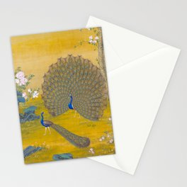 Peacock spreading its tail feathers - Lang Shining (Giuseppe Castiglione, 1688-1766 Stationery Cards