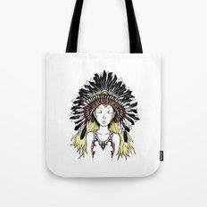 Native American Girl (colored) Tote Bag
