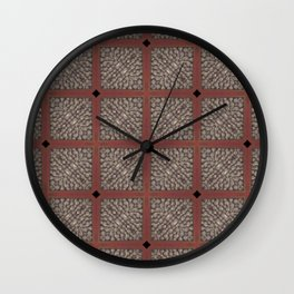 Rich Silver Wood Stone Textured Patten Abstract Wall Clock