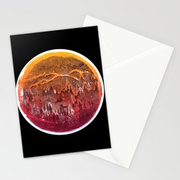Firefighter Below the Sea of Smog Stationery Cards