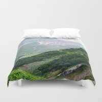 switzerland Duvet Covers featuring Switzerland by Tana Helene