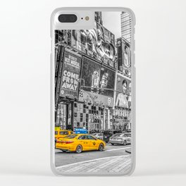 Yellow Taxi's Times Square Clear iPhone Case