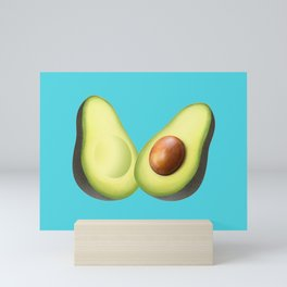 'ave an Avo | Blue Mini Art Print