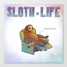 SLOTH LIFE fig. 9. Canvas Print