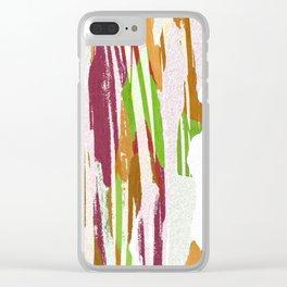 Abstract Rainbow Splash Design Clear iPhone Case