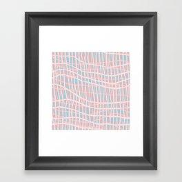 Net Blush Blue Framed Art Print