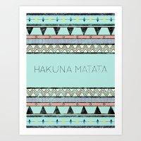 hakuna Art Prints featuring Hakuna Matata by Lala Vicencio