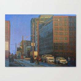 Sunset on the SE corner, Yonge and Eglinton Canvas Print