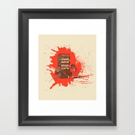 Hurry up, someone is coming! Framed Art Print