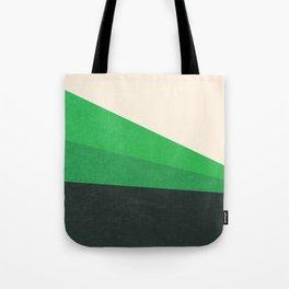 Stripe V Green Fields Tote Bag