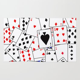 Random Playing Card Background Rug