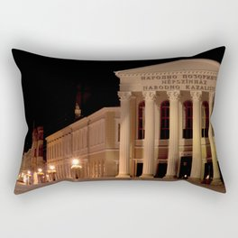 Night shot of national theatre in Subotica, Serbia Rectangular Pillow