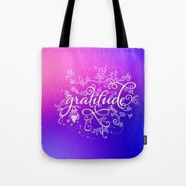 Gratitude Purply Pink Tote Bag