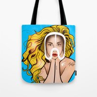 artpop Tote Bags featuring ARTPOP by Alli Vanes