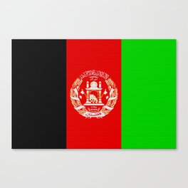 Afghanistan Flag (Patchwork Look) Canvas Print