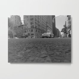 Madison Ave Cab Metal Print