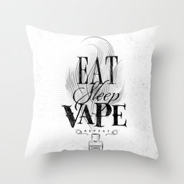Poster eat sleep vape Throw Pillow