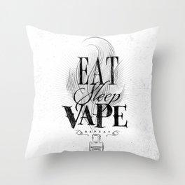 Poster eat sleep vape Throw Pillow
