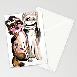 Tanuki Friend Stationery Cards