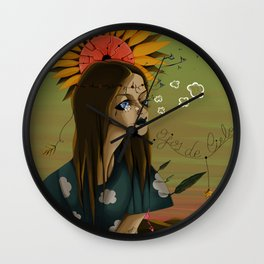 EYES MADE OF SKY Wall Clock