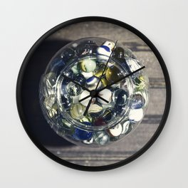 Vintage Glass Marbles 15 Wall Clock
