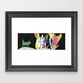 Fox Jungle Framed Art Print