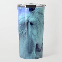 Celestial Dreams Horse Periwinkle Lavender Aqua Travel Mug