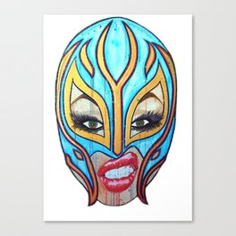 Lucha Libre Lady Canvas Print