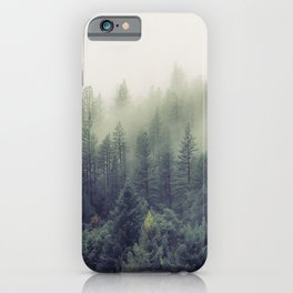 Winter forest trees #7 iPhone Case
