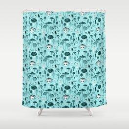 Mad Tea Party III - Mushrooms Shower Curtain