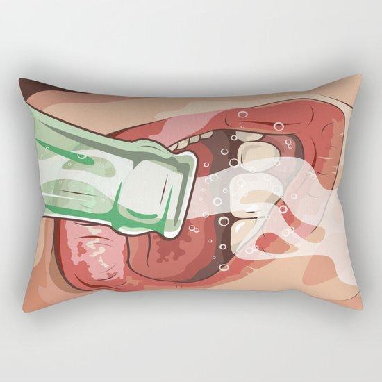 Lips and soda Rectangular Pillow