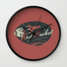 Red Rocket (Distressed) Wall Clock