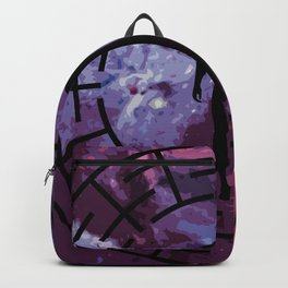 Black labyrinth man silhouette Backpack