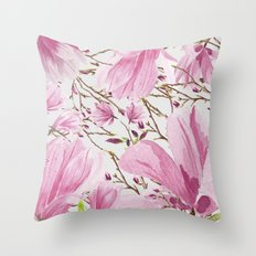 Big Magnolias Throw Pillow