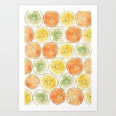 Orange Print Art Print