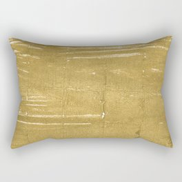 Aztec Gold abstract watercolor Rectangular Pillow
