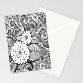 Octopus Flower Stationery Cards