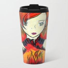 Girl on Fire Metal Travel Mug
