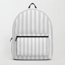 Vintage white gray elegant stripes pattern Backpack