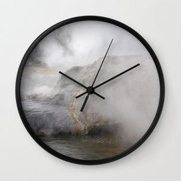 Steam in New Zealand Wall Clock