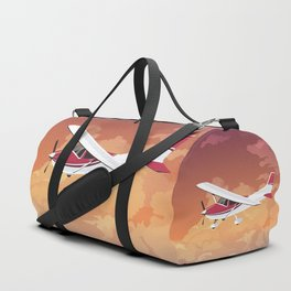 Cessna Flying Through Clouds Duffle Bag