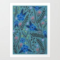 Dusk Garden Art Print