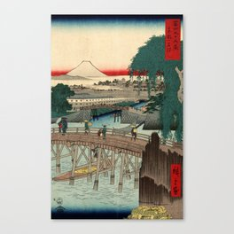 Ichikoku Bridge in the Eastern Capital by Hiroshige Canvas Print