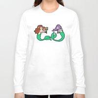 mermaids Long Sleeve T-shirts featuring Mermaids by Stella Vee